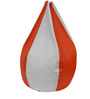 Classic Style Filled Bean Bag in Orange White Colour by Orka