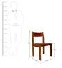 Classic Symmetry Dining Chair in Brown Color by Afydecor