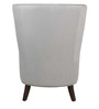 Classic Wing Back Chair with A Curved Back & Legs in Grey Color by Afydecor