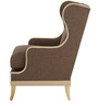 Classic Wingback Chair with Contrast color Edges by Afydecor