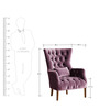 Classic Wingback Chair with Deep Tufting Details and Rich Finish by Afydecor