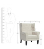 Classic Wingback Chair with Rolled arms and Piping Details by Afydecor