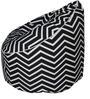 Zig Zag Muddha Bean Bag Sofa Cover by Sattva