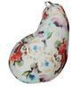 Classic  Bean Bag Cover without Beans in Floral Design by Sattva