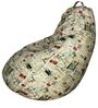 Classic  Bean Bag with Beans with Stamps Print by Sattva