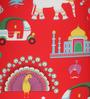 Classic  Bean Cover without Beans in Red Indian Colour by Sattva