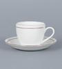 Clay Craft Cream 110 Bone China 150 ML Cup & Saucer - Set of 6