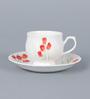 Clay Craft Karina 276 Bone China 200 ML Cup & Saucer - Set of 6