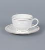 Clay Craft Piyajo 110 Bone China 200 ML Cup & Saucer - Set of 6