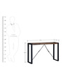 Odin Console Table in Light Brown Finish by Bohemiana