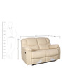 Clover Two Seater Manual Recliner in Cream Colour by Sofab