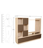 Clover Wall Unit in Light Oak & Dark Brown Colour by HomeTown