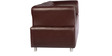 Colar Three Seater Leatherette Sofa in Burgandy Colour by Tube Style