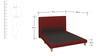 Contemporary King Upholstered Platform Bed in Dark Red Color by Afydecor
