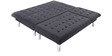 LHS Corner Sofa Cum Bed in Black Colour  by Furny