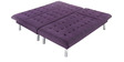LHS Corner Sofa Cum Bed in Purple Colour by Furny