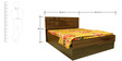 Cosmo Queen Bed With Storage by Evok