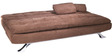 Cosy Supersoft Sofa bed in Brown colour by Furny
