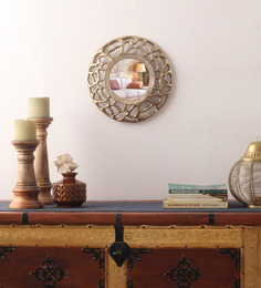 Cocovey Gold Aluminium Round Decorative Mirror