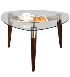 Coffee Table with Glass Top by Durian