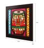 Cocovey Canvas 16 x 2 x 16 Inch Tabla Style Handmade Framed Rajasthani Style Phad Painting