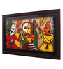 Cocovey Canvas 16 x 2 x 26 Inch Handmade Framed Rajasthani Style Phad Painting