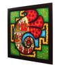Cocovey Canvas 24 x 2 x 24 Inch Ganesh Shree Yantra Handmade Framed Rajasthani Style Phad Painting