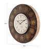 Cocovey Gold Brass 12 Inch Round Zodiac Signs Wall Clock