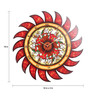 Cocovey Multicolour Wooden 18 Inch Round Handmade Phad Painting Clock