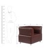 Colar One Seater Leatherette Sofa in Burgandy Colour by Tube Style