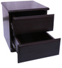 Collections Bed Side Table with Two Drawers in Brown Colour by RVF