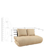 Comfortable Futon with Beige Mattress by ARRA
