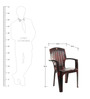 Comrade High Back Chair Set of Two in Rosewood Colour by Cello