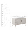 Connor Mid Century Entertainment Unit in White Colour by Asian Arts