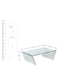 Constel Wide Coffee Table in Transparent Finish by HomeHQ
