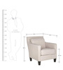 Contemporary Accent Chair with Track Arms and Square Tapered Legs