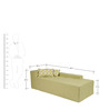 Contemporary Two Seater Chaise with Minimal Design in Green Colour by Afydecor