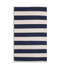 Contrast Living Multicolour Cotton 54 x 48 Inch Stripe Shuttle Area Rug
