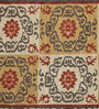 Contrast Living Multicolour Jute 36 x 24 Inch Printed Dhurrie