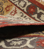 Contrast Living Multicolour Wool & Cotton 48 x 72 Inch Hand-Woven & Printed Dhurrie