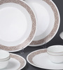 Corelle Livingware Sand Sketch Vitrelle Glass Dinner Set - Set of 10