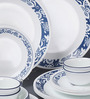 Corelle Livingware True Blue Vitrelle Glass Dinner Set - Set of 30