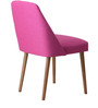 Corfinio Accent Chair (Set of 2) in Pink Color with Cocoa Legs by CasaCraft