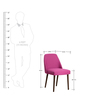 Corfinio Arm Chair (Set of 2) in Pink Colour with Cappucino Legs by CasaCraft