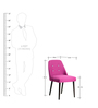 Corfinio Buttoned Arm Chair (Set of 2) in Pink Color by CasaCraft