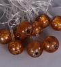 Courtyard Angora Amber Glass String Light