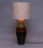 Courtyard Ekat Multi Color Table Lamp With Matka Silk Shade