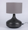 Courtyard Vithal Lamp Table In Grey Antique Base And Grey Shade