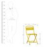 Marandoo Grunge Yellow Outdoor Folding Chair by Bohemiana