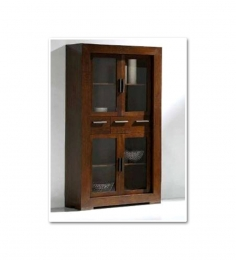 Basil Crockery Cabinet With Four Shelves And Three Drawers